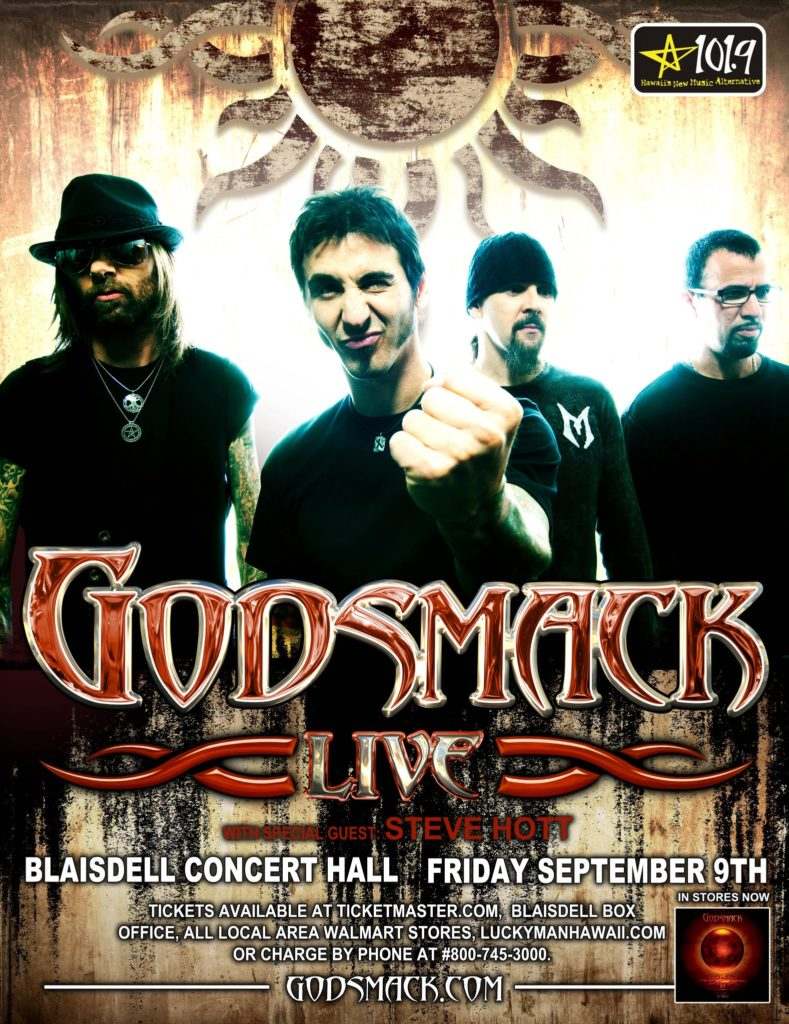 Steve Hott Opening for Godsmack in Hawaii